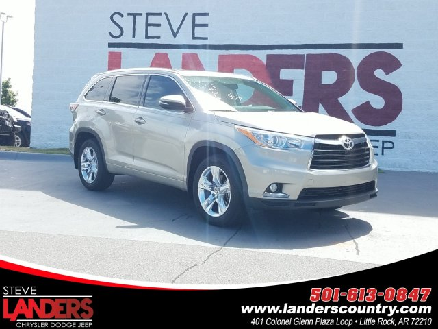 Toyota Little Rock >> Pre Owned 2016 Toyota Highlander Limited Fwd Sport Utility